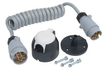 RCC120S 12S Pre-wired Detachable Coiled Cable and 2 Plugs
